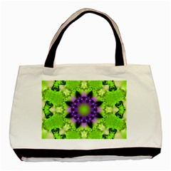 Pattern Abstract Background Art Green Basic Tote Bag