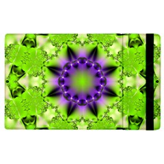 Pattern Abstract Background Art Green Apple Ipad 2 Flip Case by Pakrebo
