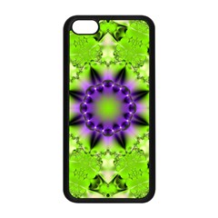 Pattern Abstract Background Art Green Apple Iphone 5c Seamless Case (black)