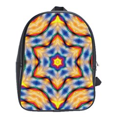 Pattern Abstract Background Art School Bag (large)