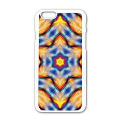 Pattern Abstract Background Art Apple Iphone 6/6s White Enamel Case