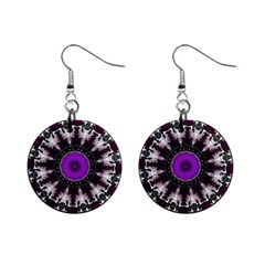Kaleidoscope Round Circle Geometry Mini Button Earrings