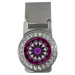 Kaleidoscope Round Circle Geometry Money Clips (cz)