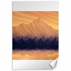 Landscape Nature Mountains Sky Canvas 20  X 30
