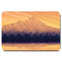 Landscape Nature Mountains Sky Large Doormat