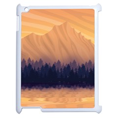 Landscape Nature Mountains Sky Apple Ipad 2 Case (white)