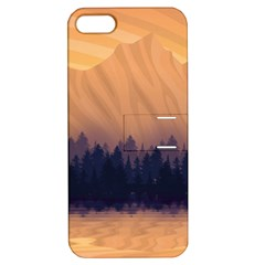Landscape Nature Mountains Sky Apple Iphone 5 Hardshell Case With Stand