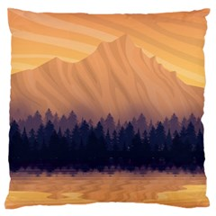 Landscape Nature Mountains Sky Large Flano Cushion Case (one Side)