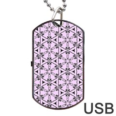 Default Texture Tissue Seamless Dog Tag Usb Flash (two Sides)