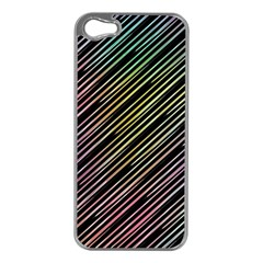 Pattern Abstract Desktop Fabric Apple Iphone 5 Case (silver)