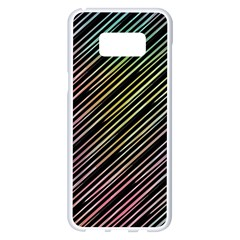 Pattern Abstract Desktop Fabric Samsung Galaxy S8 Plus White Seamless Case by Pakrebo