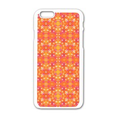Desktop Pattern Abstract Orange Apple Iphone 6/6s White Enamel Case by Pakrebo