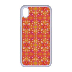 Desktop Pattern Abstract Orange Apple Iphone Xr Seamless Case (white)