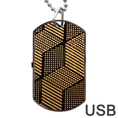 Cubes Light Geometry Shines Dog Tag Usb Flash (one Side)