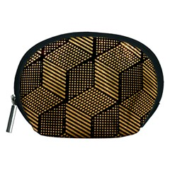 Cubes Light Geometry Shines Accessory Pouch (medium)