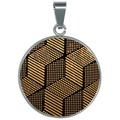 Cubes Light Geometry Shines 30mm Round Necklace