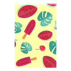 Watermelon Leaves Strawberry Shower Curtain 48  X 72  (small)