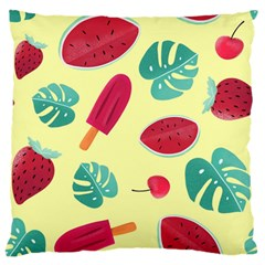 Watermelon Leaves Strawberry Standard Flano Cushion Case (one Side)
