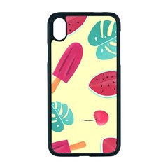 Watermelon Leaves Strawberry Apple Iphone Xr Seamless Case (black)