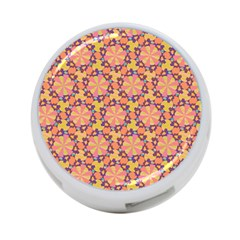 Pattern Decoration Abstract Flower 4 Port Usb Hub (one Side)