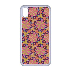 Pattern Decoration Abstract Flower Apple Iphone Xr Seamless Case (white)
