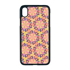Pattern Decoration Abstract Flower Apple Iphone Xr Seamless Case (black)