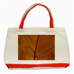 Leaf Fall Foliage Nature Orange Classic Tote Bag (red)