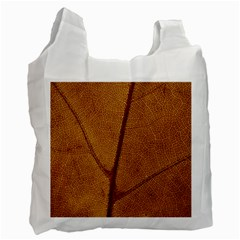 Leaf Fall Foliage Nature Orange Recycle Bag (two Side)