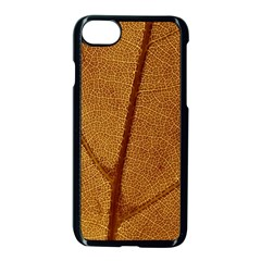 Leaf Fall Foliage Nature Orange Apple Iphone 8 Seamless Case (black) by Pakrebo