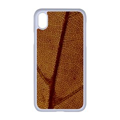 Leaf Fall Foliage Nature Orange Apple Iphone Xr Seamless Case (white)