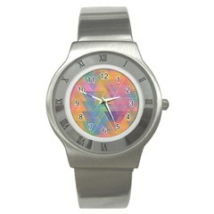 Triangle Pattern Mosaic Shape Stainless Steel Watch