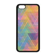 Triangle Pattern Mosaic Shape Apple Iphone 5c Seamless Case (black)