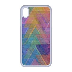 Triangle Pattern Mosaic Shape Apple Iphone Xr Seamless Case (white)