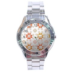 Wallpaper Pattern Abstract Stainless Steel Analogue Watch