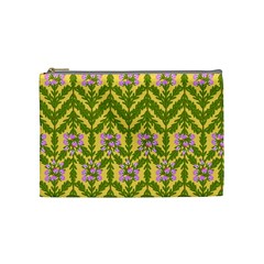 Texture Heather Nature Cosmetic Bag (medium) by Pakrebo