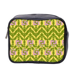 Texture Heather Nature Mini Toiletries Bag (two Sides)