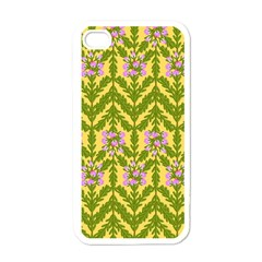 Texture Heather Nature Apple Iphone 4 Case (white)