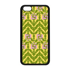 Texture Heather Nature Apple Iphone 5c Seamless Case (black)