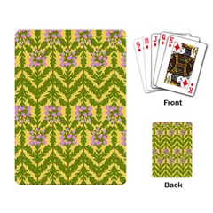 Texture Heather Nature Playing Cards Single Design