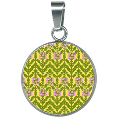 Texture Heather Nature 20mm Round Necklace