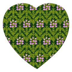 Pattern Nature Texture Heather Jigsaw Puzzle (heart)