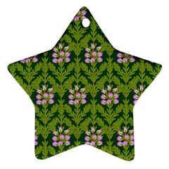 Pattern Nature Texture Heather Star Ornament (two Sides)