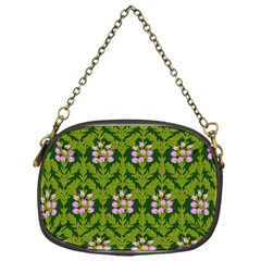 Pattern Nature Texture Heather Chain Purse (one Side)