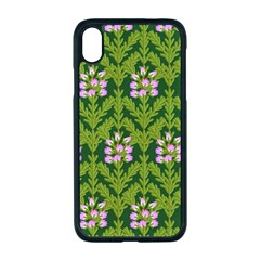 Pattern Nature Texture Heather Apple Iphone Xr Seamless Case (black)