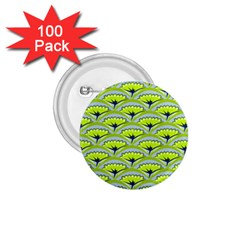 Texture Green Plant Leaves Arches 1 75  Buttons (100 Pack)