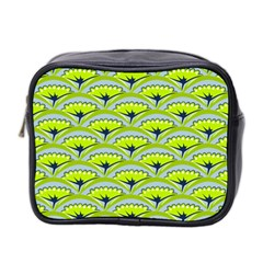 Texture Green Plant Leaves Arches Mini Toiletries Bag (two Sides)