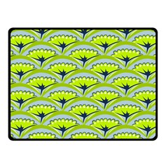 Texture Green Plant Leaves Arches Fleece Blanket (small) by Pakrebo