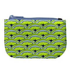 Texture Green Plant Leaves Arches Large Coin Purse by Pakrebo
