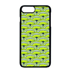 Texture Green Plant Leaves Arches Apple Iphone 8 Plus Seamless Case (black)