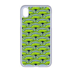 Texture Green Plant Leaves Arches Apple Iphone Xr Seamless Case (white)
